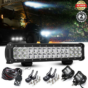 14 5 Inch Led Light Bar wire Pods Offroad Suv 4wd For Jeep Hummer Vs 30 42 14