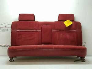 1992 Dodge Dakota Front Cloth Bench Seat Red Cl Marks Rust