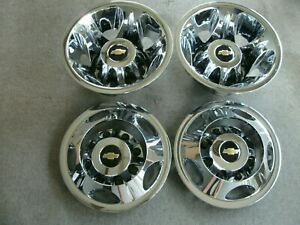 Chevy Silverado 3500 17 Dually Factory Chrome Wheel Covers Simulators