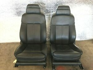 06 07 08 09 10 Bmw E60 M5 Front Comfort Active Seats Heated Black Leather 90k