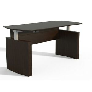 Safco Products Medina Height Adjustable 72 Curved Front Desk