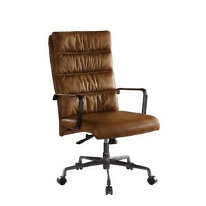 Acme Jairo Executive Office Chair With Lift In Sahara Top Grain Leather