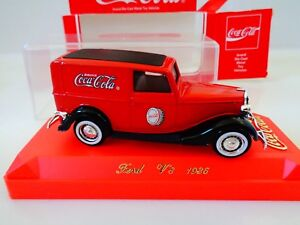SOLIDO DIECAST - 1936 FORD V8 COCA COLA DELIVERY - W/ CASE-1:43 SCALE - NIB