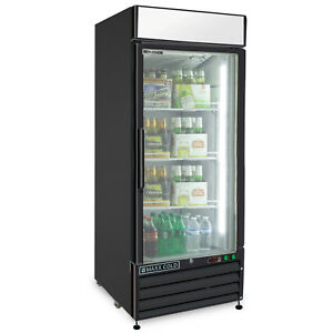 Maxx Cold Single 1 Glass Door 16cf Commercial Merchandiser Refrigerator Cooler