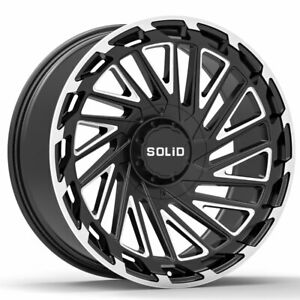 20 Solid Blaze Gloss Black 20x12 Forged Concave Wheels Rims Fits Dodge Ram 1500
