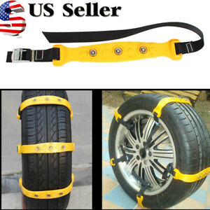 Anti skid Tire Snow Mud Chains For Car Suv Traction Emergency Driving Universal