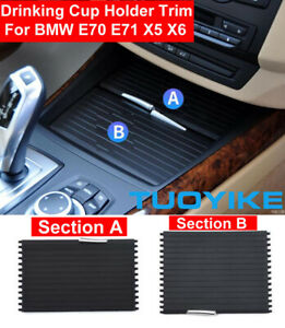 Car Center Console Drink Water Cup Holder Roller Blind Curtain For Bmw X5 X6 E70