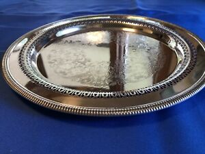 Vintage Wm Rogers Silver Plated Serving Tray 12 1 2 Inches