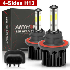 H13 9008 2500w 375000lm Cree Led Headlight Bulb Kit Lamp Bulbs Hi Lo White 6000k