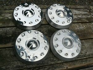 Set Of Four Vintage Mopar Chrysler plymouth Dodge Dog Dish Hub Caps