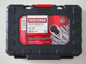 Craftsman 25pc Inch Metric 3 8 In 1 4 In Drive Socket Wrench Set