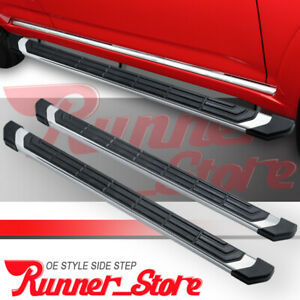 For 09 18 Dodge Ram 1500 Crew Cab 4 5 Running Boards Nerf Bar Side Step S S Fr