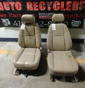 2007 5 2010 Tan Leather Power Front Seats Chevy Silverado Gmc Sierra 2500 3500