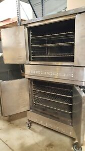 Natural Gas W 6 Oven Racks Blodgett Dfg 100 Double Stack Convection Bakery