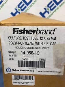 Fisherbrand Culture Test Tube 12 X 75 Mm With Cap 14 956 1c 500 pk