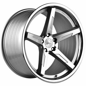 20 Vertini Rfs1 7 Silver 20x9 20x10 Forged Wheels Rims Fits Ford Mustang