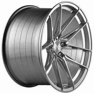20 Vertini Rfs1 8 Silver 20x9 20x10 Concave Wheels Rims Fits Ford Mustang