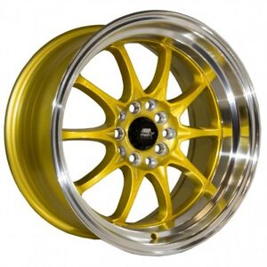 Mst Wheels Mt11 Rims 16x8 15 Gold Deep Lip 5x114 3 Stance 06 Acura Rsx Type S