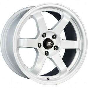 Mst Wheels Mt01 17x9 35 White Concave Rims 5x114 3 Stance 06 18 Honda Civic Si