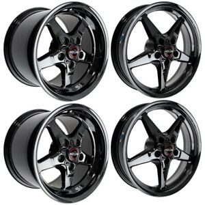 Race Star Drag Pack 15x10 17x4 5 For 93 02 Camaro black 4 Wheel Combo Kit