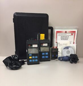 Photodyne Fluke Fiber Optic Test Equipment Set W Light Source Manuals Meter
