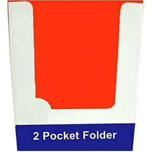 2 Pocket Folders Laminated 3 Holes Asst Colors In Display Case Pack Of 100