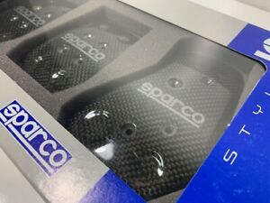 Sparco Carbon Fiber Manual Pedals Genuine And Brand New Set 03783l Fast Shipping