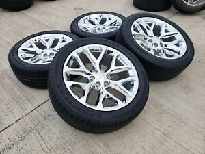 20 Cadillac Escalade 2019 2020 Oem Chrome Wheels Rims Tires Vogue 4737 2018 New