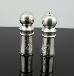 Vintage Japanese Sterling Silver 950 Figural Geisha Salt Pepper Shakers