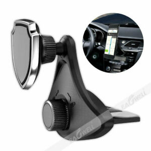 New 360 Rotate Magnetic Universal Car Mount Cd Slot Holder Stand For Cell Phone