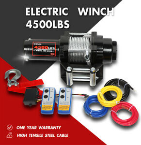 X Bull 4500lbs 12v Electric Winch Atv Utv 4wd Steel Cable Towing Truck Off Road