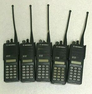Lot Of 5 Motorola Mts 2000 Flashport Radio W Batteries Clips Antennas