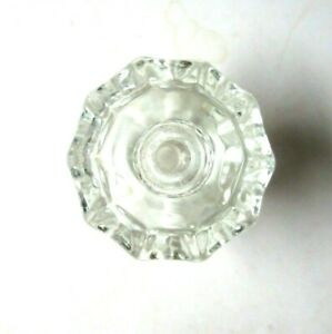 1 Antique Retro 10 Sided Clear Glass Pull Knob 1 5 16 Width Cabinet Door Drawer