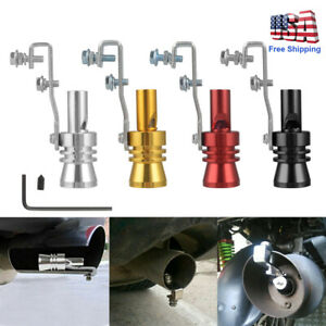 New Universal Turbo Sound Color Auto Muffler Exhaust Pipe Whistle Simulator L Xl
