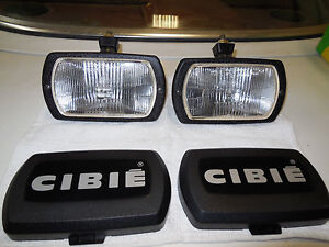Cibie Type 95i Clear Fog Lamps Genuine Pair Complete New With Bulbs Covers