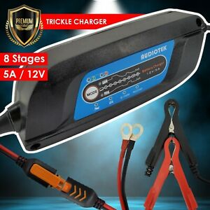 5a 12v Battery Charger Maintainer Trickle Rv Car Boat Motorcycles Deep Cycle