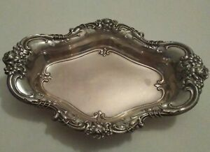 Sterling Silver Candy Dish Wallace 4114 Royal Rose Chased Silver Bowl