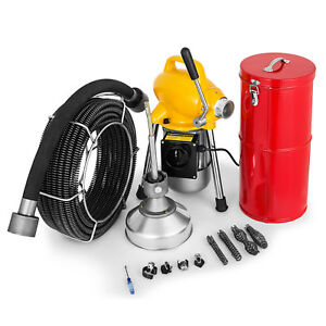 3 4 5 Drain Cleaner 500w Sectional Sewer Snake Auger Drain Cleaning Machine