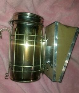 Bee Hive Smoker Stainless Steel Calming Beekeeping Equip parts no Top Spout