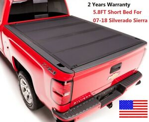 Short Hard Bed For 2004 2019 Ford F 150 Folding Tonneau Cover Flat Top 5 6ft Us