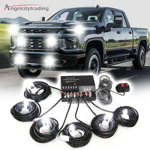 White 120w 6 Hid Bulbs Hide Away Hazard Emergency Warning Strobe Light Kit Hot