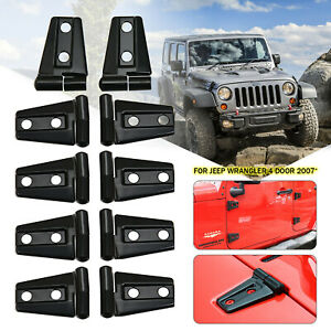 Hood Door Hinge Cover Fit For 2007 2017 Jeep Wrangler Jk Jku Unlimited Parts