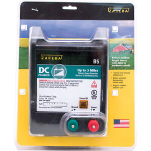 New Woodstream Zareba Battery Operated Solid State Fence Charger 5 Mile