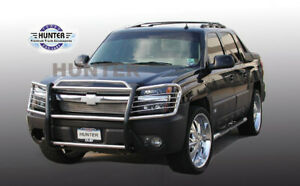 Fits 2002 2006 Chevy Avalanche 1500 w o Cladding Black Grille Brush Guards