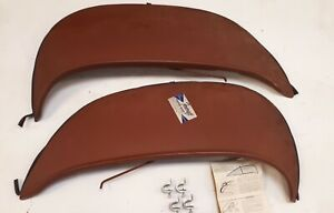 1963 Pontiac Tempest Steel Fender Skirts Flush Mounted With Flare Nos Foxcraft