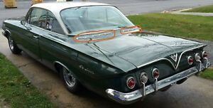 1961 Chevrolet Impala Rear Deck Chrome Scallops