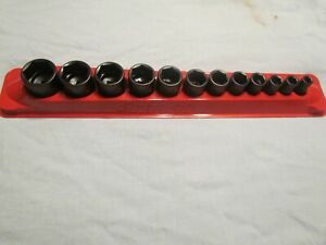 New Snap On 212imfya 12 Piece Impact Socket Set 3 8 1 Shallow 6 Point 3 8 Drive
