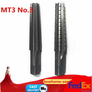 No 3 Mt3 Straight Shank Morse Taper Reamer Set Roughing Finishing Fine Finish