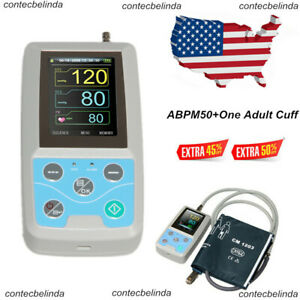 24hr Abpm50 Nibp Monitor Ambulatory Blood Pressure Holter pc Software New Usa