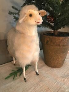 Antique Early Old Extra Large German Wooly Sheep